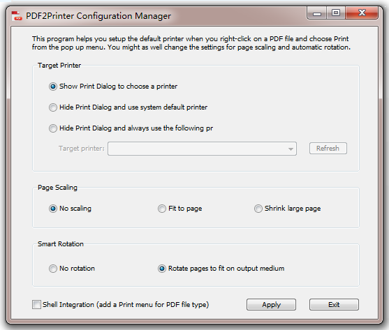 pdf to printer configuration tool